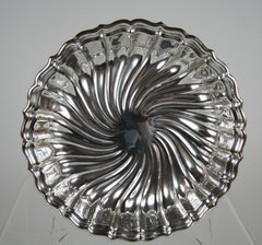 A Large Gorham Sterling Bowl with Swirl Design