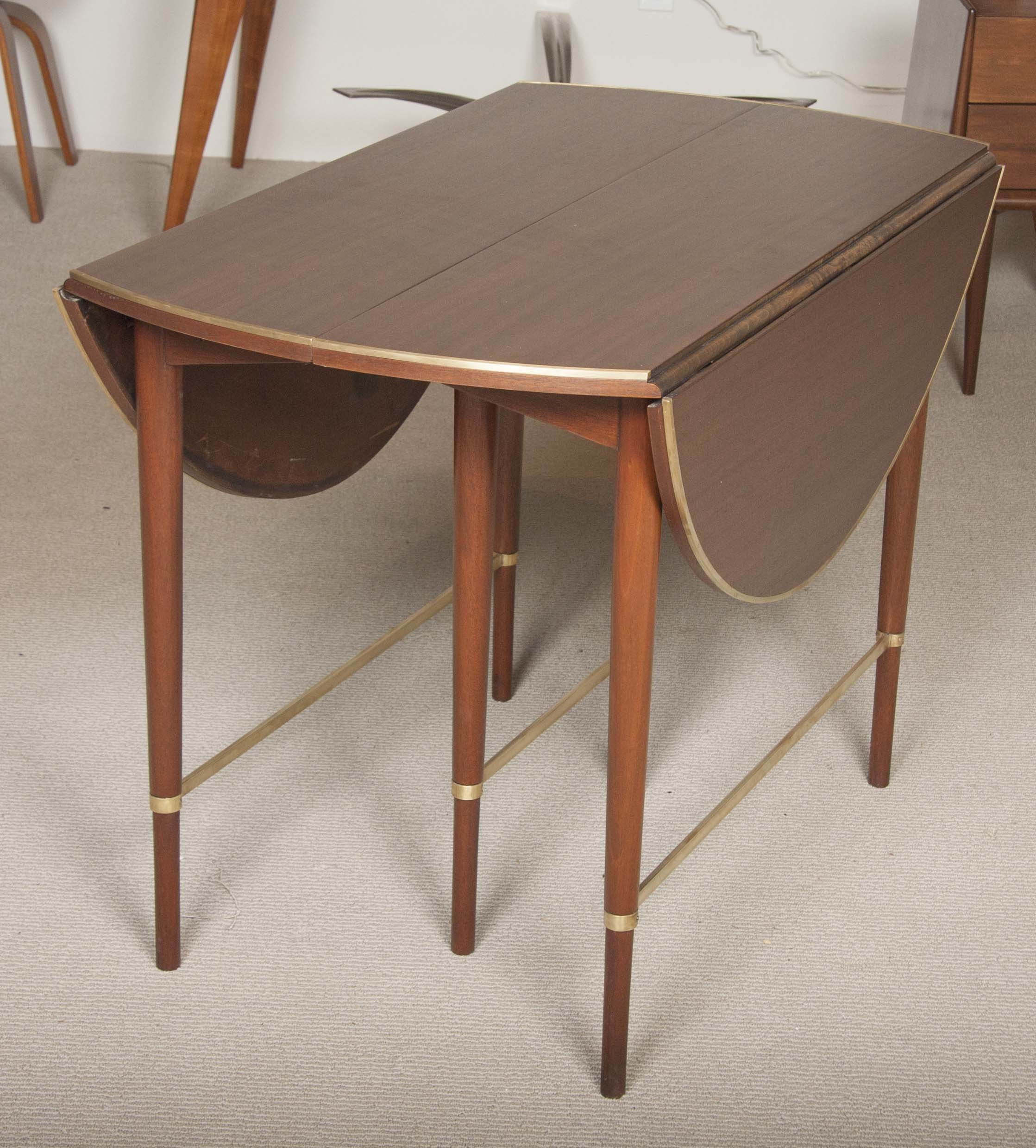 Paul McCobb Connoisseur Collection Mahogany & Brass Dining Table
