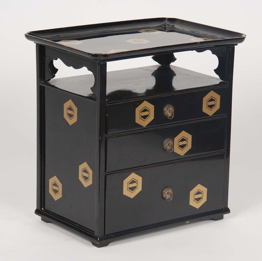 Japanese Lacquer Cosmetics Cabinet