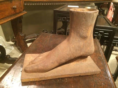 American Folk Art Cast Iron Foot