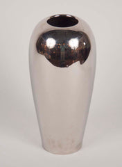 A large Japanese Nickel plated steel vase.