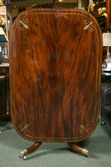 Mahogany & Brass Inlaid Breakfast Table
