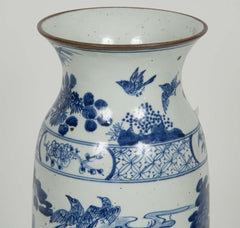 Japanese Blue and White Vase