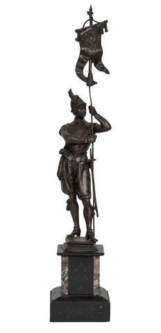 Late 19th Century English Spelter Statue