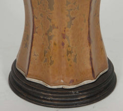 Ochre Jar Mounted as Lamp