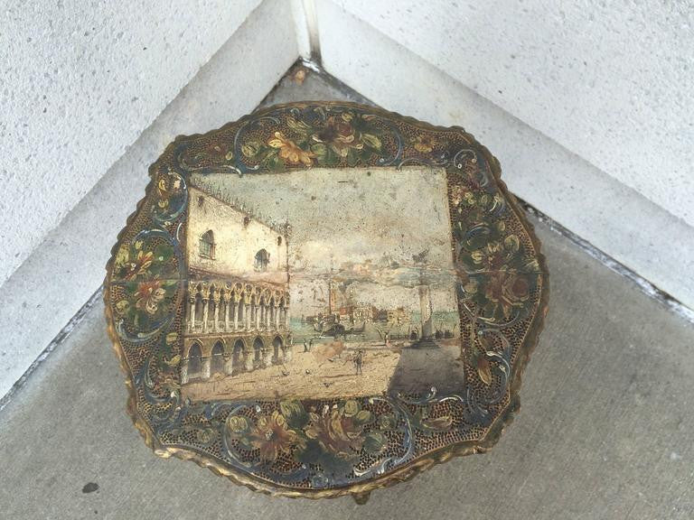 18th Century Venetian Painted and Gilt Stand