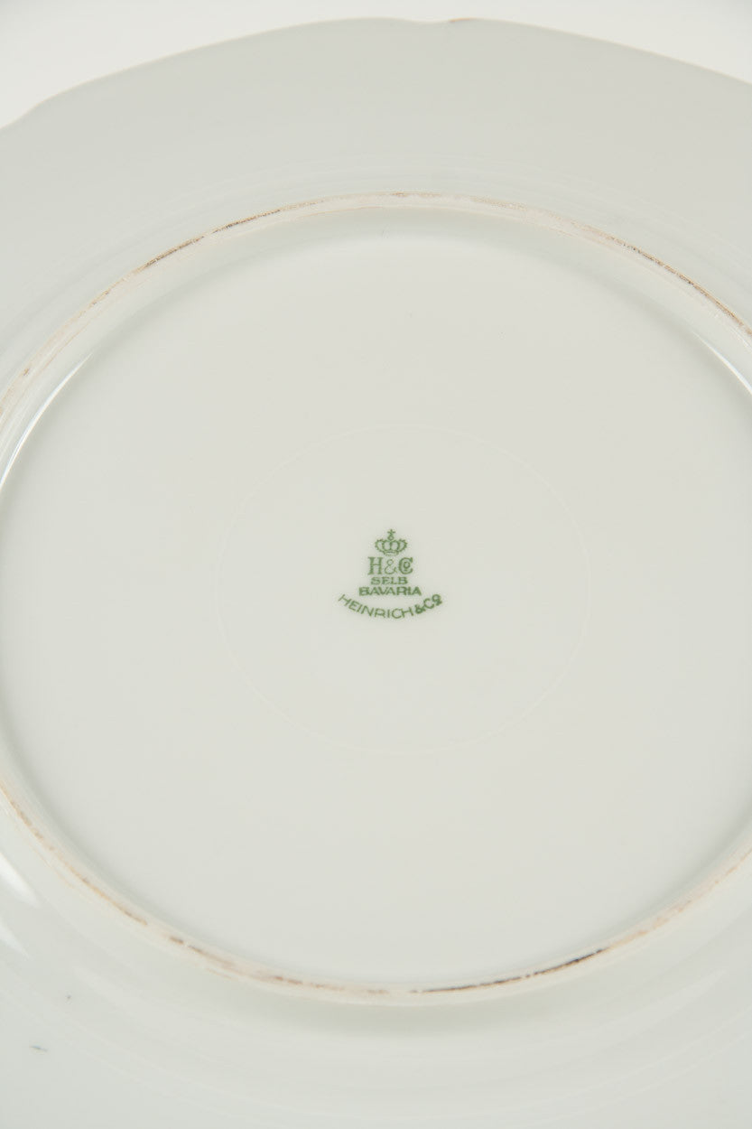 A Set Of 12 Porcelain Dining Plates By Heinrich ...