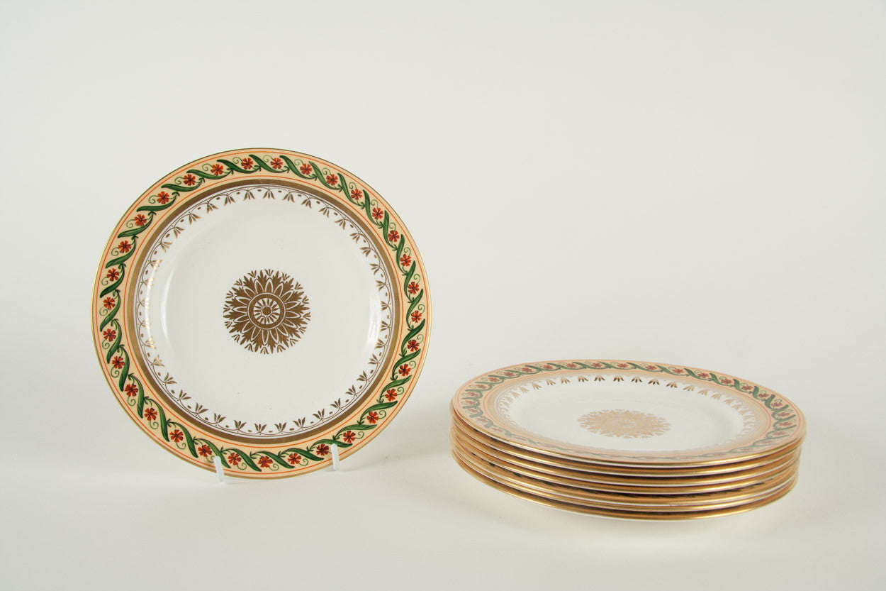 A Set of 8 Directoire Style Dessert Plates by Le Tallec for Tiffany & Co