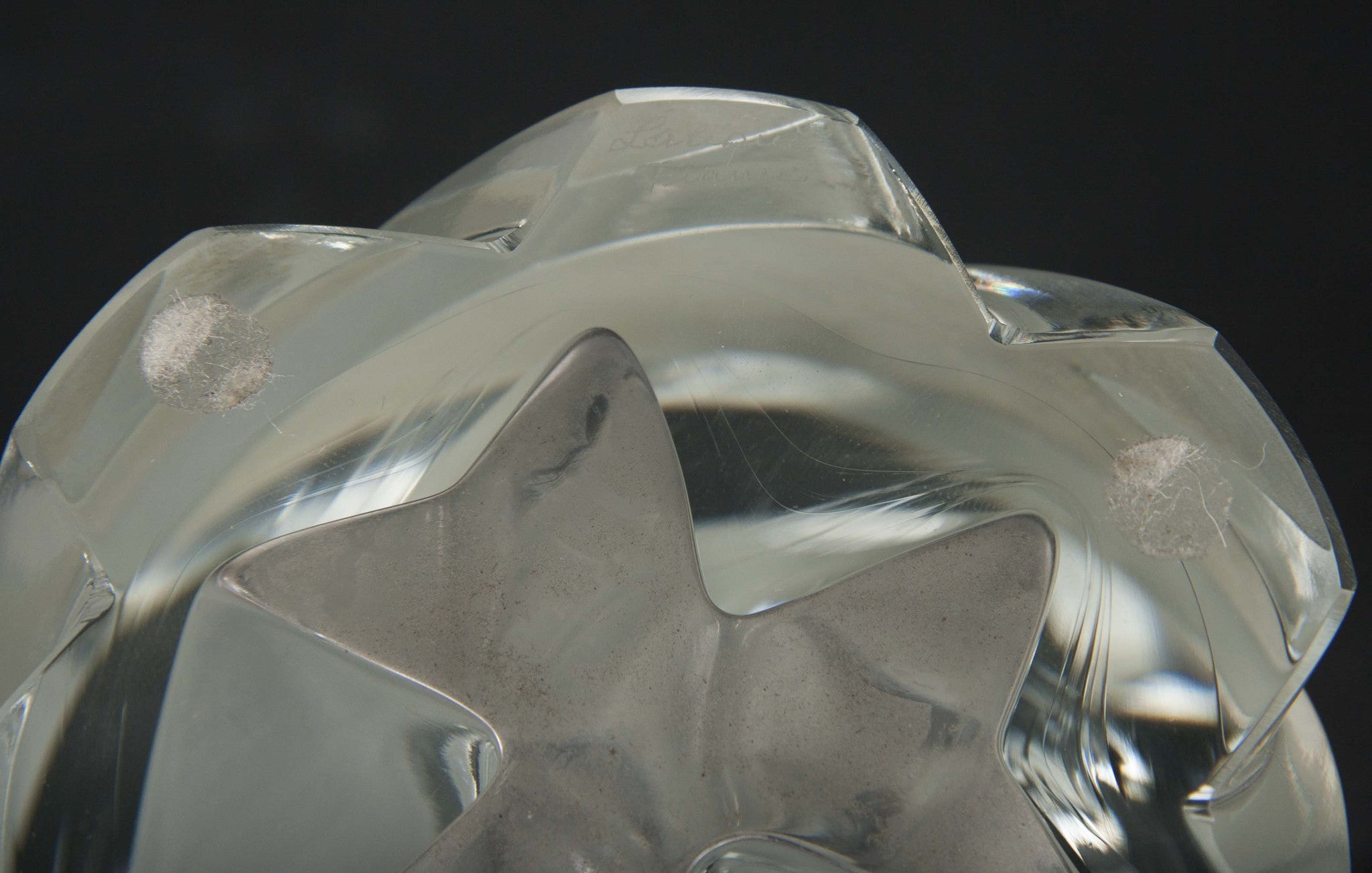 "Pair of Lalique Frosted Crystal ""Narcisse"" Vases"