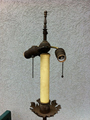 Spanish Wrought Iron Torchere Lamp