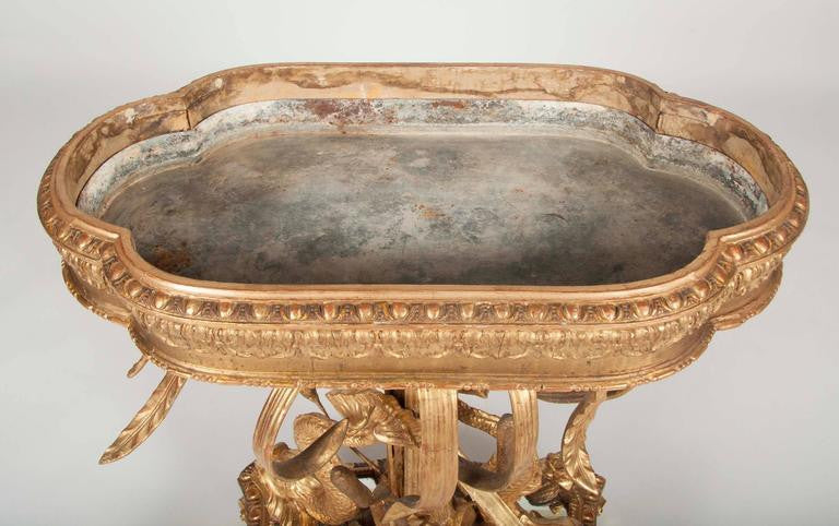 An Italian Belle Epoque Gilt Wood Jardiniere with Liner