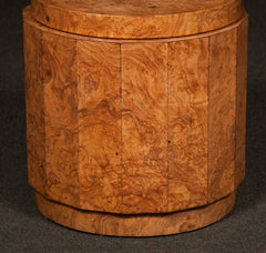Burl Olive Wood Glass Top Table by Edward Wormley for Dunbar # 6302G