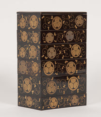 Six-Tiered Japanese Lacquered Box