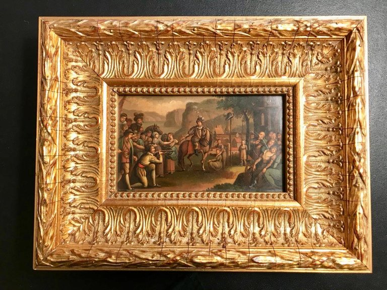 Swiss Oil Painting of the Legend of William Tell – Avery & Dash