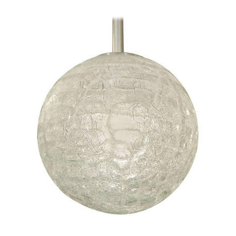 Large Organic Crackle Glass Globe Pendant by Doria Leuchten
