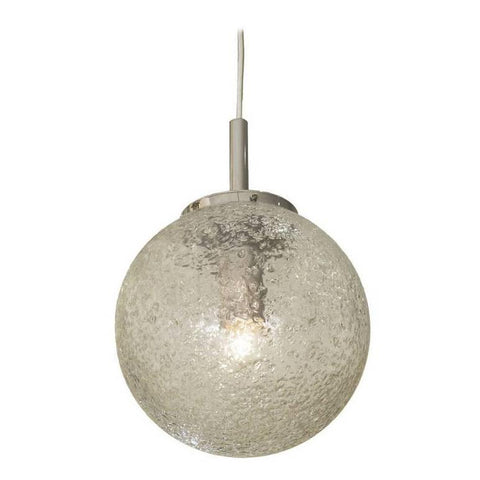 Handblown Crater Pattern Glass Pendant by Doria Leuchten
