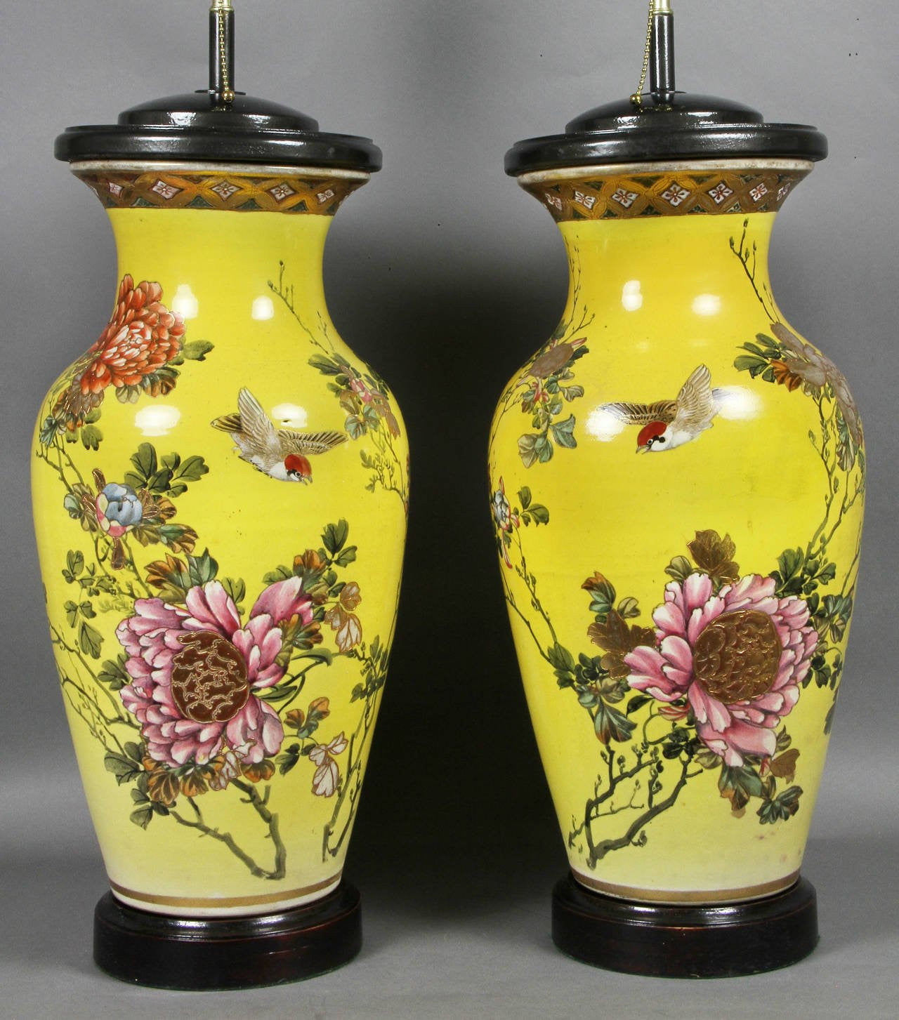 Japanese pottery vases mounted as lamps avery dash collections japanese pottery vases mounted as lamps reviewsmspy
