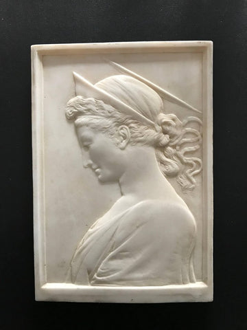 Grand Tour Renaissance Marble Relief of Saint Cecilia
