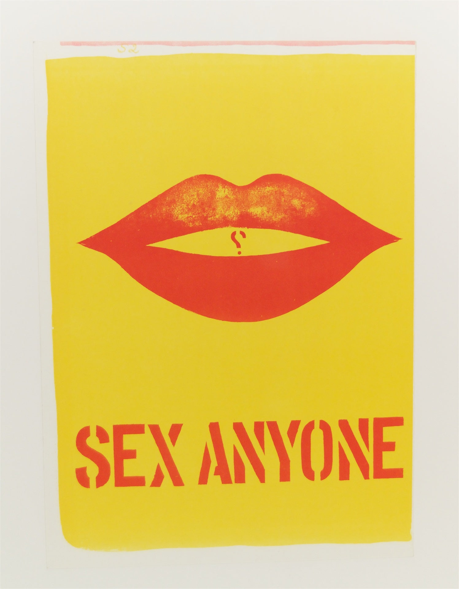 """Sex Anyone"" Lithograph by Robert Indiana"