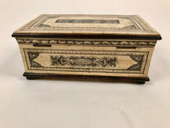 Anglo Indian Bone and Wood Box
