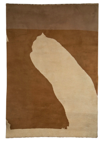 "Tapestry ""Beige Configuration "" after Robert Motherwell"