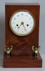 French Empire Mahogany Mantle Clock