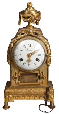 Late 18th Century French Gilt Mantle Clock