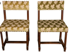 Pair of Gothic side chairs