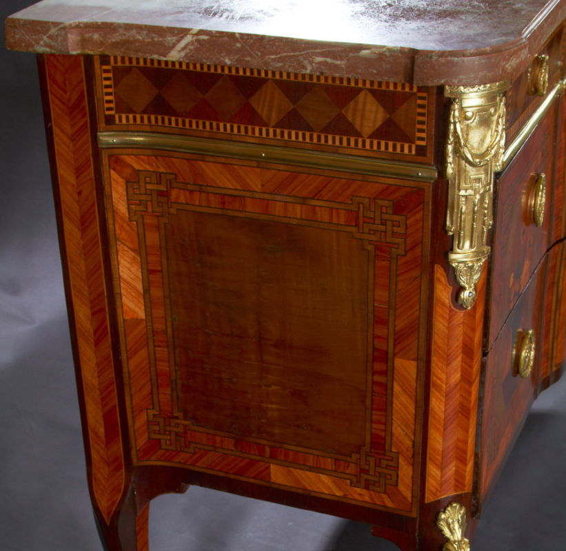Fine French Transitional Marquetry Commode
