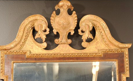 Fine George II Parcel Gilt Mirror
