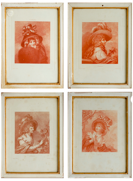 Set of 4 Etchings Printed in France