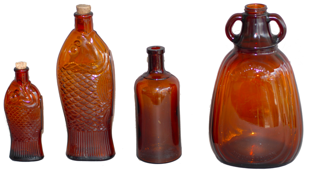 Vintage American Glass Bottles