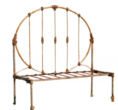 Vintage French Iron Daybed