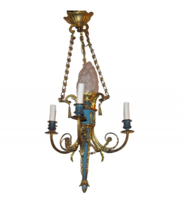 Neo-classical 3-arm Chandelier