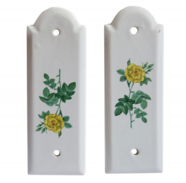 Pair of Porcelain Door Pushers