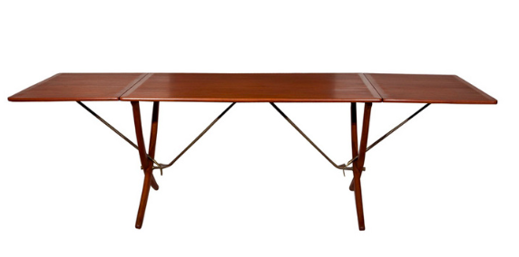 Hans Wegner Teak Drop Leaf Dining Table