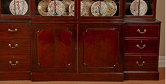 English Mahogany Breakfront