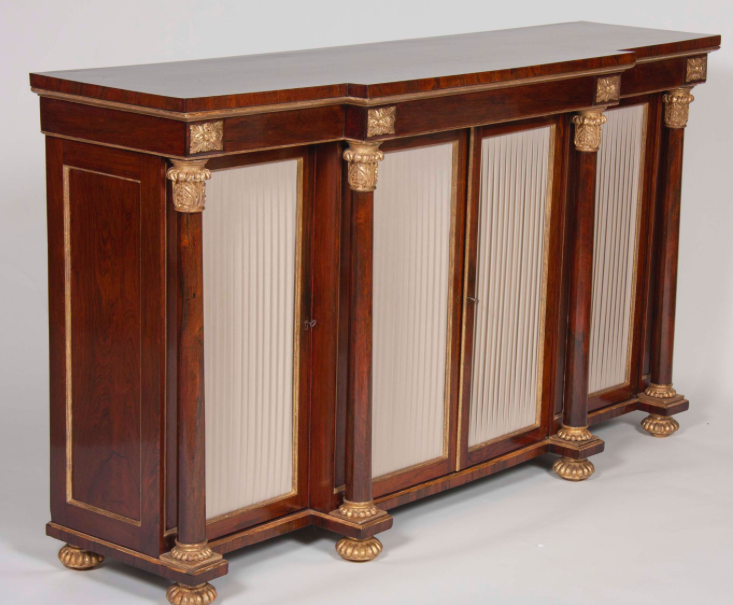 English Regency Rosewood Credenza