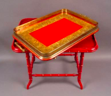 English Tray on Stand