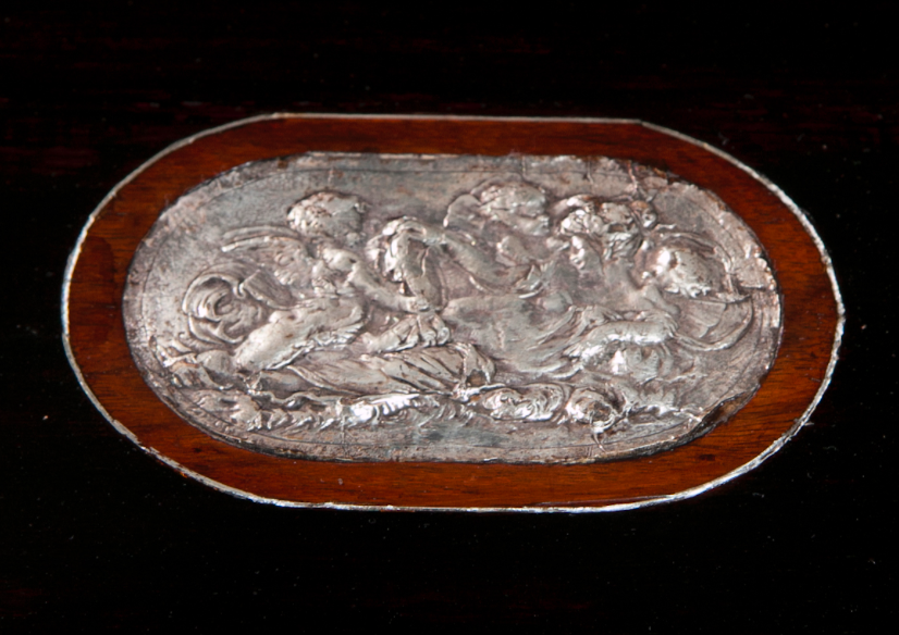 French Repousse Silver Table