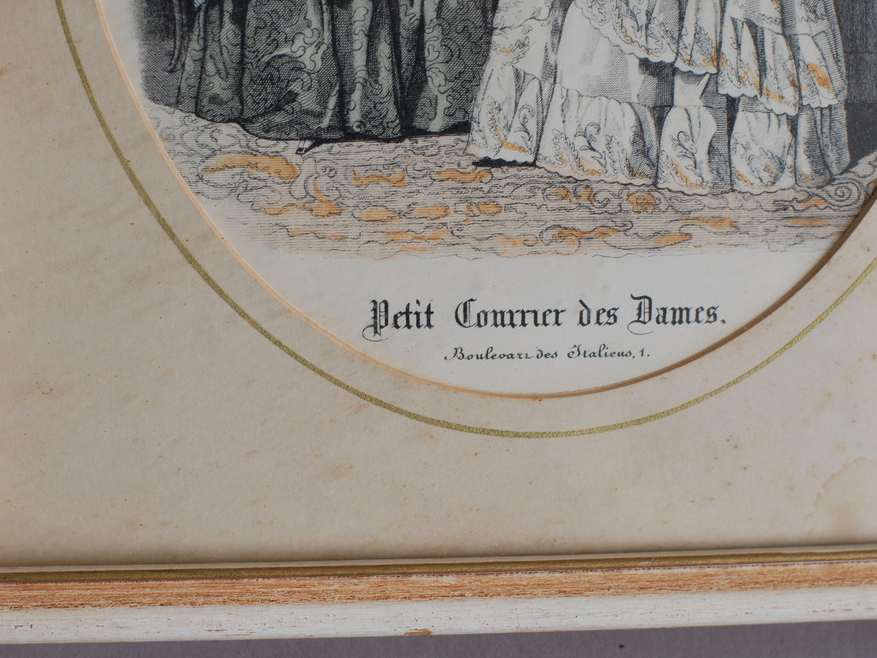 """Petit Courrier Des Dames"" French Antique Lithograph"
