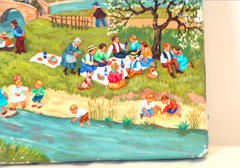 """Picnic"" Oil by Jean Axatard"