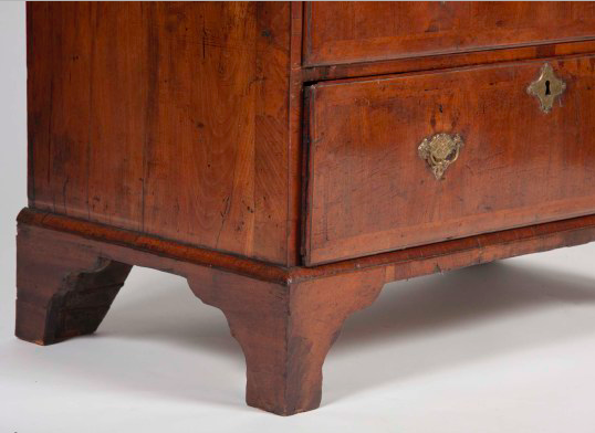 English Queen Anne Period Walnut Desk