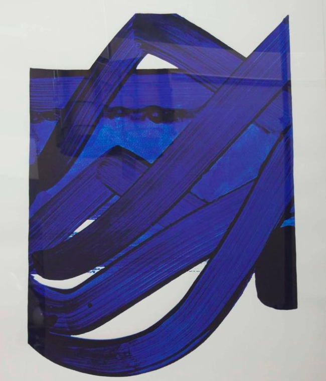 Lithograph by Pierre Soulages (b. 1919) from The Official Arts Portfolio of XXIV Olympiad