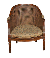 A Louis XVI Caned Childs Chair