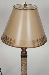Early 20th Century Faux Marble Table Lamp