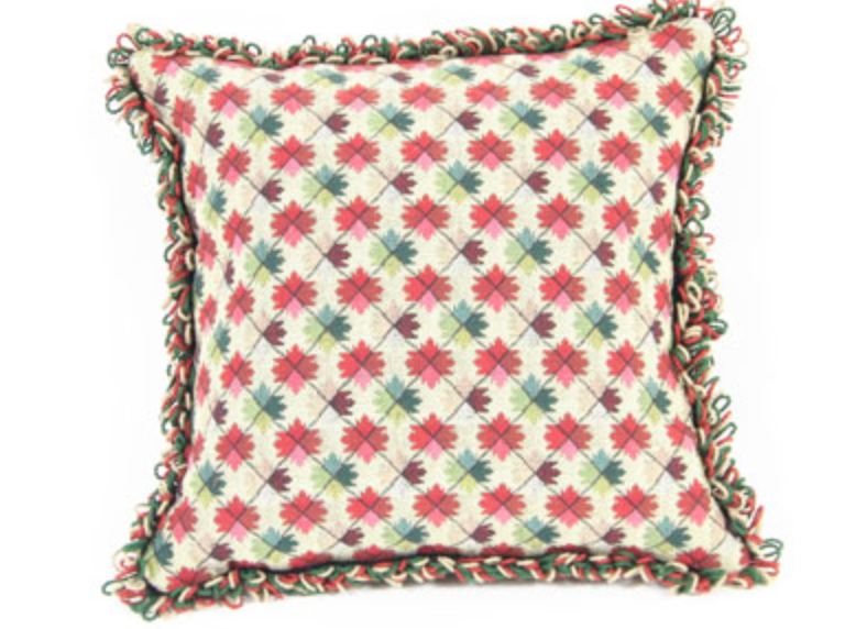 Handmade Pillow With Antique Needlepoint