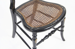 Inlaid Victorian Hairpin Side Chair