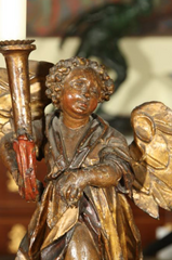 Italian Carved Candelstick