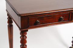 Mahogany Two Drawer Side Table
